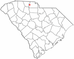 Location of Hickory Grove, South Carolina