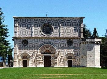 La basilica di Santa Maria di Collemaggio, eretta per volere del santo
