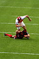 ST vs RCT - December 2011 - Fritz tackles Giteau.JPG