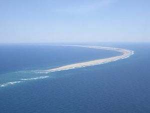 English: Aerial view of Sable Island, Nova Sco...
