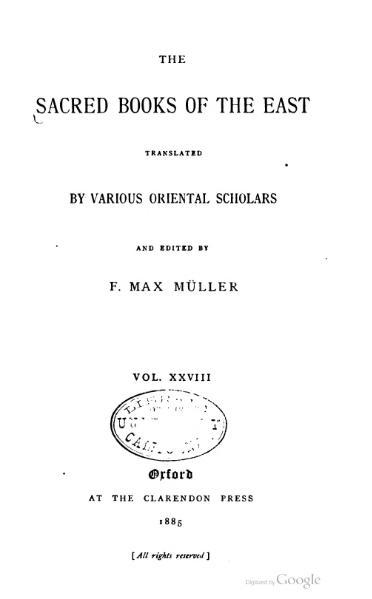 File:Sacred Books of the East - Volume 28.djvu
