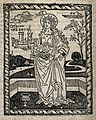 Saint Dorothy. Woodcut. Wellcome V0031912.jpg