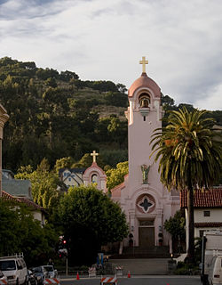 Mission San Rafael Arcángel, one of the city's most recognizable landmarks