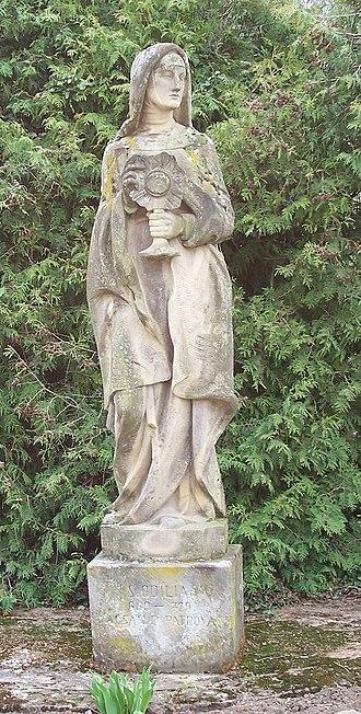 Odile of Alsace - Saint Odile in Avolsheim, Alsace