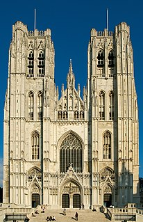 Cathedral of St. Michael and St. Gudula Church in Brussels-Capital Region, Belgium