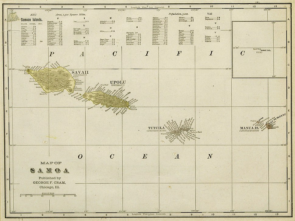 Samoa Cram Map 1896