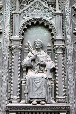 Daniel of Padua - Bronze sculpture of Daniel of Padua from the doors of the Basilica of St. Anthony