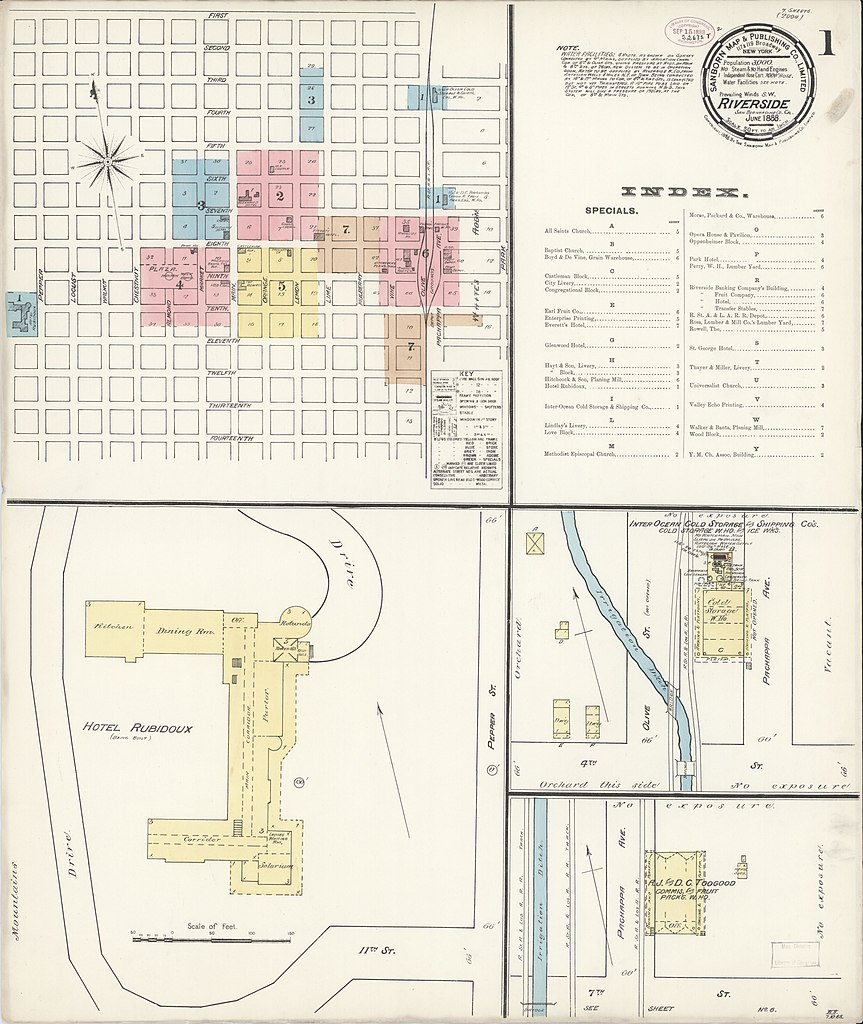 File Sanborn Fire Insurance Map From Riverside Riverside County