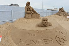 Sand Sculpture at Weston super Mare of The Hunger Games by Marielle Heessels.jpg