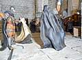 Sant Cugat. Reial Monestir. Claustre. Maqueta de l'assassinat de l'Abat Biure 4.jpg