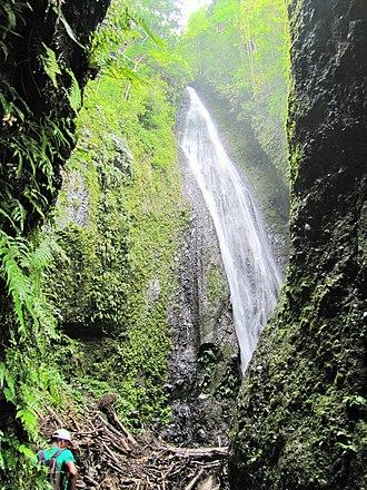 Geography of São Tomé and Príncipe - Waterfalls near Ponta Figo, São Tomé and Príncipe