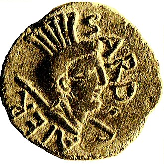 Sardus - Depiction of Sardus Pater in a Roman coin (59 a.C.)