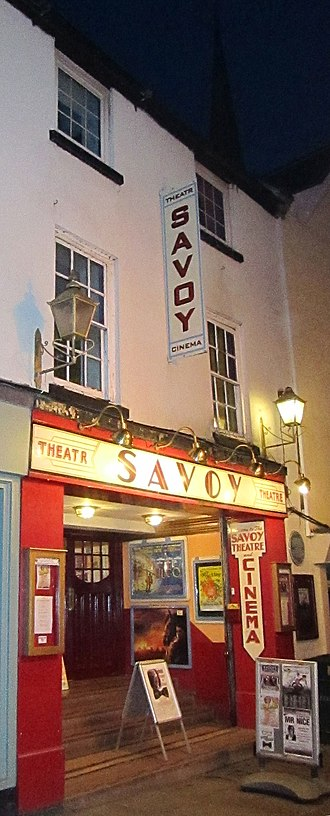 Church Street, Monmouth - The Savoy Theatre at night