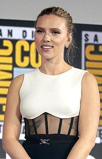 Scarlett Johansson American actress and singer