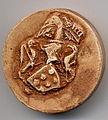 Sceau de Tugdual de Kermoysan (sceau original partiellement endommagé, reproduction couleur).JPG