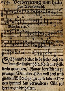 Schmücke dich, o liebe Seele sacred Song composed by Johann Crüger with lyrics by Johann Franck