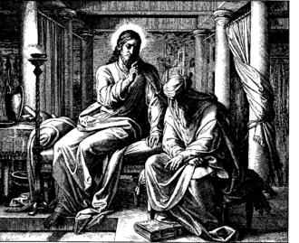 Nicodemite - Nicodemus meeting Jesus secretly at night.