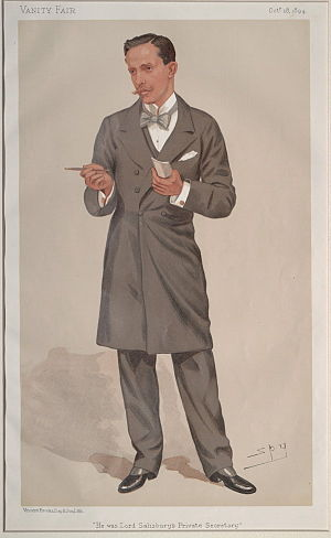 "Schomberg Kerr McDonnell - ""He was Lord Salisbury's Private Secretary"" - A caricature of Schomberg Kerr McDonnell in Vanity Fair, 18 Oct 1894"