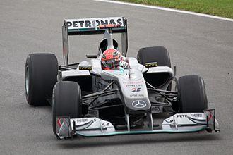 2010 Canadian Grand Prix - Michael Schumacher qualified in thirteenth position.