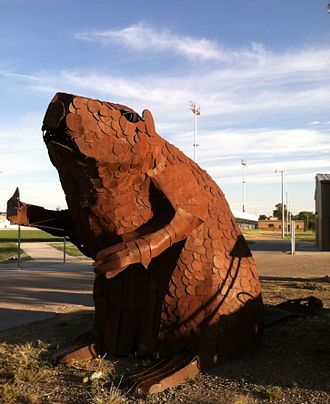 Scott City, Kansas - The welded beaver.