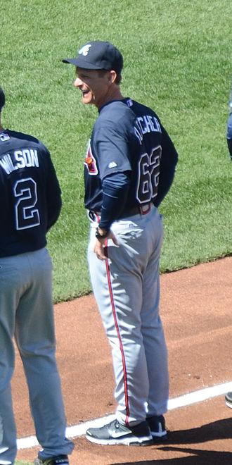 Scott Fletcher (baseball) - Fletcher as coach for the Atlanta Braves in 2012
