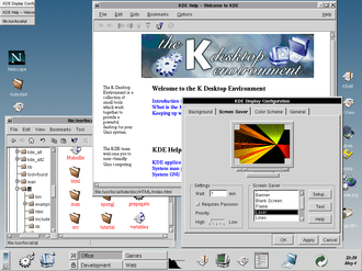 K Desktop Environment 1 - K Desktop Environment, alpha version from July 1997