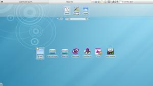KDE Plasma 4 - KDE Plasma Netbook's Search and Launch view