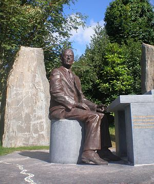 Seán Ó Riada - Seán Ó Riada Sculpture in Cúil Aodha church yard