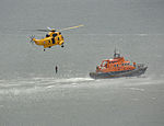 Sea King and Plymouth lifeboat, Plymouth Airshow 2010 1.jpg