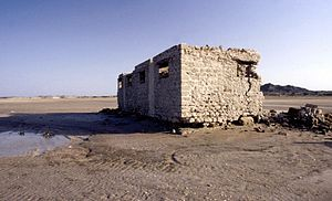 Masirah Island -  The remains of the seaplane fuel store on Masirah Island in 1984