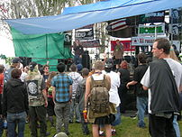 McWilliams Stage (named after Peter McWilliams), Seattle Hempfest, 2007.