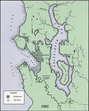 Lake Washington Ship Canal - Image: Seattle waterways 1902