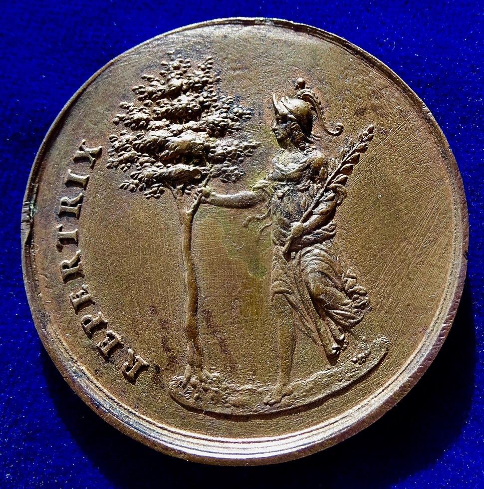 Sebastian Dadler Original Medal N.D. (1648), Christina of Sweden, Peace of Westphalia. Reverse