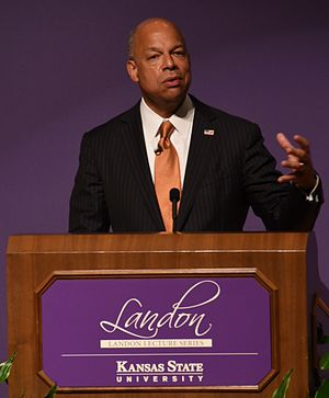 Landon Lecture Series - US Homeland Security secretary, Jeh Johnson speaking in 2013