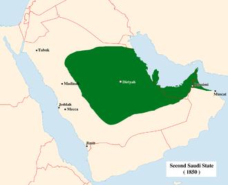 Emirate of Nejd - Image: Second Saudi State Big