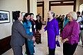 Secretary Clinton Greets Representatives at the LMI Women's Event (7563707706).jpg