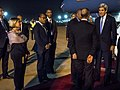 Secretary Kerry is Welcomed by Moroccan Minister of the Interior M. Hassad After Arrival in Marrakech (31012101025).jpg