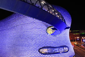 Selfridges Birmingham at night