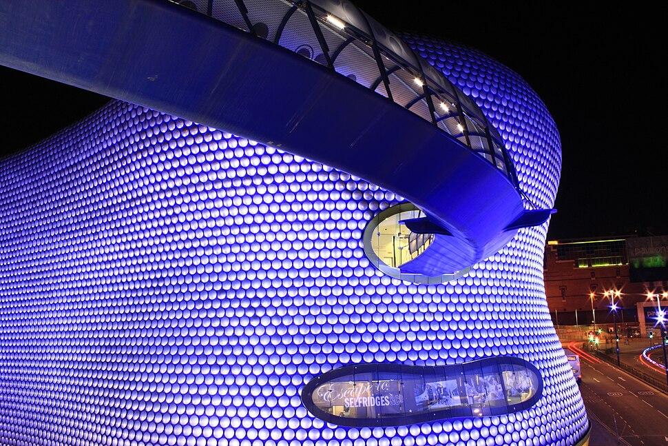 Selfridges Birmingham at night