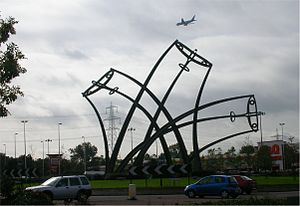 Castle Bromwich Assembly - Sentinel sculpture on nearby roundabout