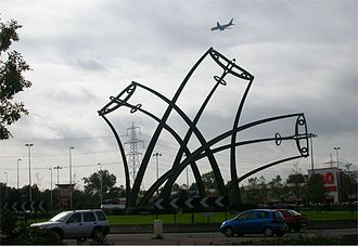 A47 road - Sentinel by Tim Tolkien near the wartime Spitfire factory at Castle Bromwich