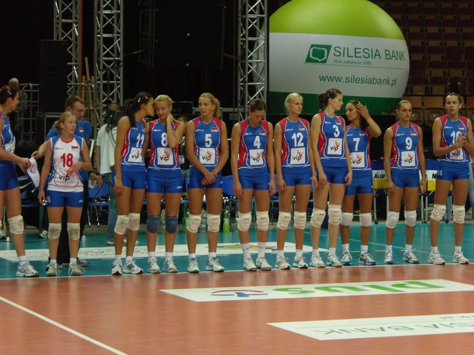 Serbia womens volleyball team - Katowice 2010