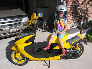 Noelle and the Scooter / Here's the little Sha...