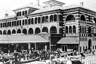 Shanghai North railway station - The newly completed Shanghai North railway station in 1908