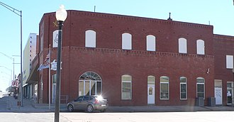 National Register of Historic Places listings in Ellis County, Oklahoma - Image: Shattuck, Oklahoma public library from N 1