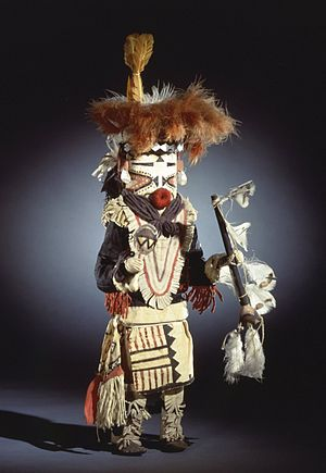 Pueblo - She-we-na (Zuni Pueblo). Kachina Doll (Paiyatemu), late 19th century. Brooklyn Museum