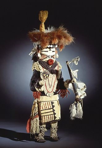 Zuni - She-we-na (Zuni Pueblo). Kachina doll (Paiyatemu), late 19th century. Brooklyn Museum