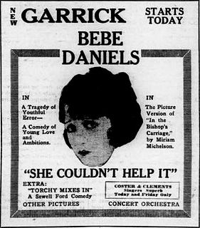 <i>She Couldnt Help It</i> 1920 silent drama film directed by Maurice Campbell