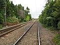Shepreth, Railway line at Meldreth Road level crossing - geograph.org.uk - 877766.jpg