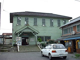 Shin-Yōkaichi Station Railway station in Higashiōmi, Shiga Prefecture, Japan